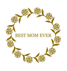 greeting card for mother s day vector image