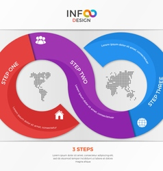 infographic template in form infinity vector image