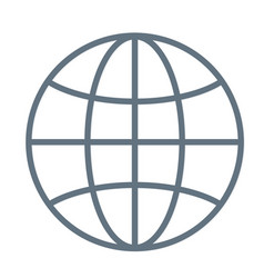 international globe line art icon for apps and vector image