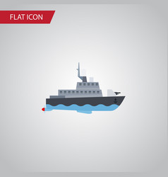 isolated boat flat icon ship element can vector image