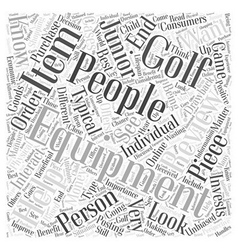 Junior Golf Equipment Reviews Word Cloud Concept vector