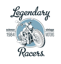 legendary racers poster vector image