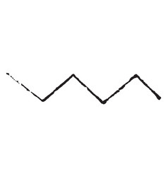Line dancette used to divide and charges vector