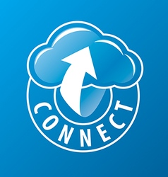 logo connectivity cloud and arrow vector image