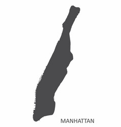 manhattan silhouette map vector image