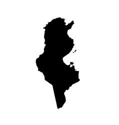 map tunisia isolated black vector image