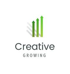 market statistic report logo template creative vector image