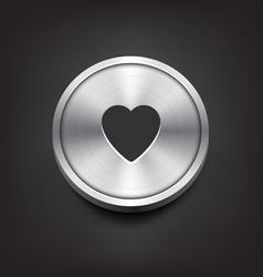 Metal Heart Icon vector image