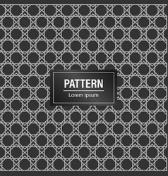 minimal geometric pattern background black vector image