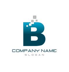modern letter b vector image
