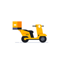 motorcycle for an online home delivery service vector image