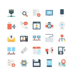 Network and Communications Icons 3 vector image