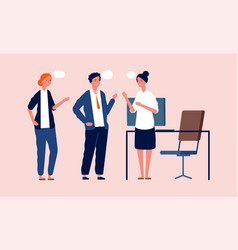 office managers talking business meeting people vector image