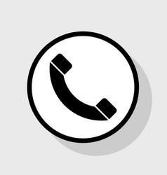 phone sign flat black icon vector image