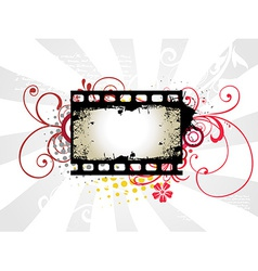 Photo reel art vector