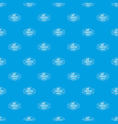 pirate cannon pattern seamless blue vector image