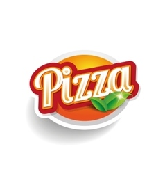 Pizza lettering vector image