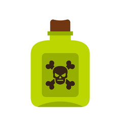 poison icon flat style vector image