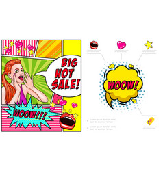 pop art hot sale advertising composition vector image