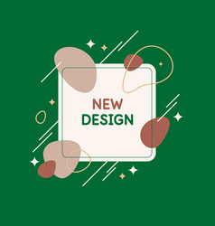Poster with simple flat organic shapes and lines vector