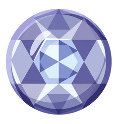 Precious stone icon cartoon style vector