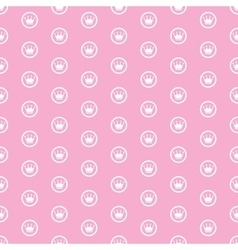 Princess Seamless Pattern Background vector image