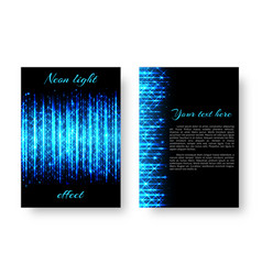 Rectangular catalog with neon light vector