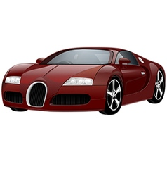 Red Sport car vector