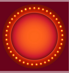 Retro circular background with light bulbs light vector