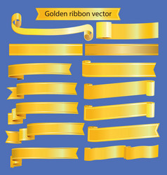 retro golden ribbon vector image