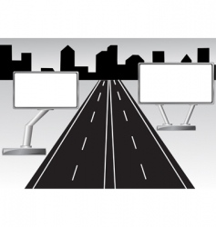 road and billboard vector image