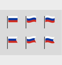 Russia federation flag symbols set russian vector