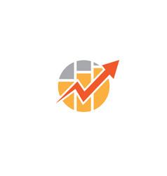 shape and chart bar arrow for statistics vector image