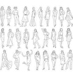 sketches women vector image