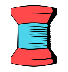 Spool thread icon icon cartoon vector