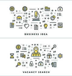 Thin Line Business Idea and Vacancy Search vector
