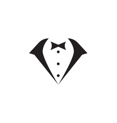 tuxedo man logo and symbols black icons template vector image