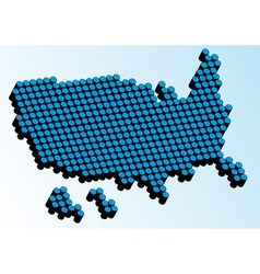 USA 3D map vector image
