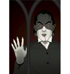 vampire at the window vector image
