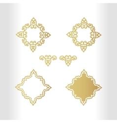 Vintage gold emblem with decorative elements for vector image