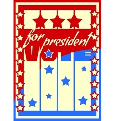 Vote for president text vector