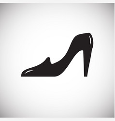 Wedding brides shoe icon on white background for vector
