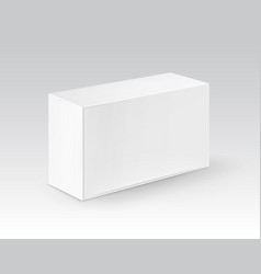 White blank cardboard rectangle take away vector
