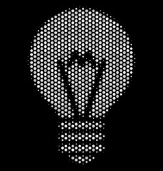 White dot electric bulb icon vector