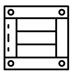 Wooden export box icon outline style vector