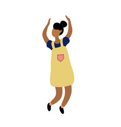 young dancing tiny stylish black woman vector image