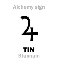 alchemy tin stannum vector image
