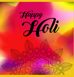 happy holi greeting background concept vector image vector image