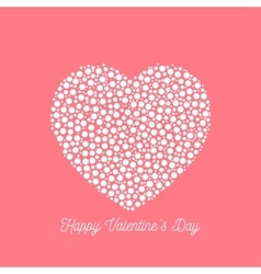 Happy valentines day - elegant graphic design card vector