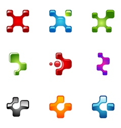 logo design elements set 68 vector image vector image